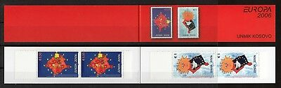 Kosovo 2006 Europa CEPT,  very fine booklet with 2 sets MNH