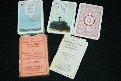 Vintage Fortune Cards, Madamoiselle Lenormand --(circa 1970's, US Games)    TMGS