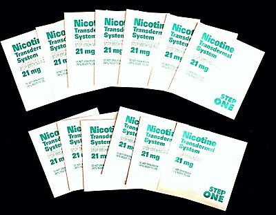 14 New Nicotine Patches - 21 mg, 2 Week Supply, 1st Step - EXPIRED 4/18/18