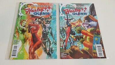 Harley Quinn Convergence #1-2 DC Comics 2015 Poison Ivy Catwoman Captain Carrot