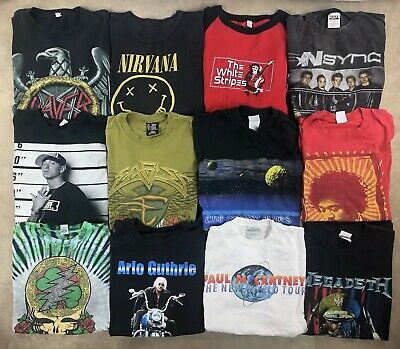 24 T Shirt Lot Vintage Music Band Tour Tee 80s 90s 2000s Bundle Wholesale Used