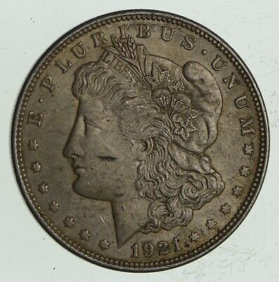 1921 Morgan Silver Dollar - Last Year Issue 90% $1.00 Bullion *692