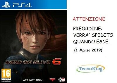 Dead Or Alive 6 PS4 Playstation 4 Italiano ITA Preordine DOA VI Standard Edition