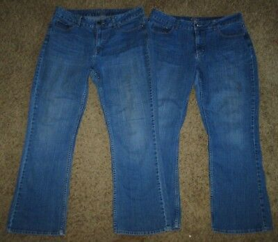 80edc10c WOMEN'S RIDERS BY Lee Midrise Straight Leg Stretch Jeans Size 14P ...
