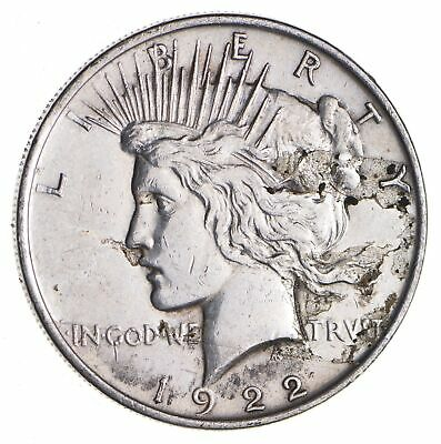 Early - 1922 - Peace Silver Dollar - 90% US Coin *250