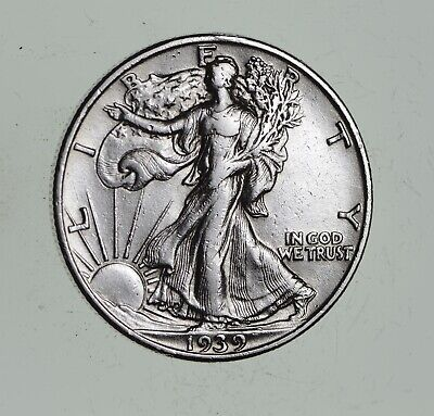 Strong Feather Details - 1939 Walking Liberty Half Dollars - Huge Value *019