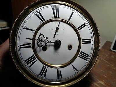 Antique-Gustav Becker-2 Wt-Vienna Regulator Clock Movt-Ca.1890-To Restore-#T161