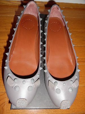 a09be3082c1 NEW MARC JACOBS Mouse Leather Sedue Gray Nappa Ballet Flats Shoes