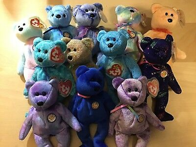 c0302e2ec88 ty beanie baby lot 12 bears all w  tags - Clubby Sunny Periwinkle Classy  Dreamer