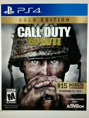 Call of Duty: WWII GOLD (Sony PlayStation 4, 2017). BRAND NEW.