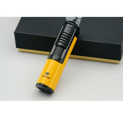 Cohiba Yellow Metal Wind Proof 1 Torch Jet Flame Cigar Lighter