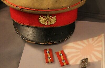 Ww2 Japanese Okinawa Imperial Guard Hat, Sgt. Collar Tabs, Navy Medal-Vet Items