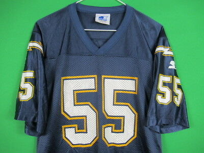 082198054 VINTAGE 90s Junior Seau San Diego Chargers  55 Starter Blue NFL YOUTH BOYS