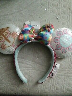 Disney Parks It's A Small World Minnie Mouse Ears Headband New With Tags