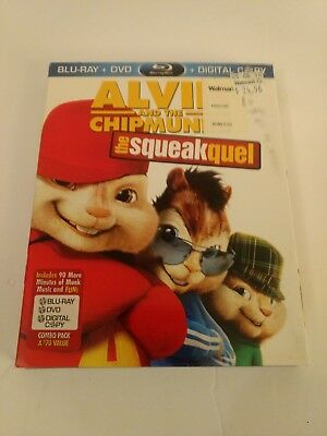 Alvin and the Chipmunks: The Squeakquel (Blu-ray/DVD, 2010, 3-Disc Set, Include…