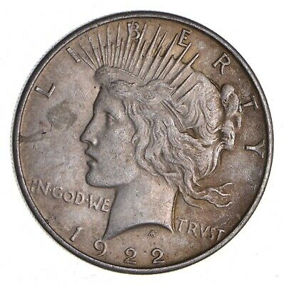 Better - 1922 - Peace Silver Dollar - 90% US Coin *925