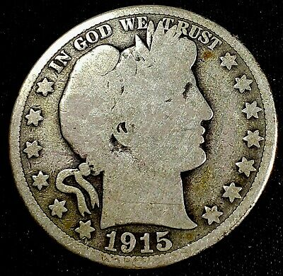 1915-S Barber Half Dollar US Silver 50 cent US  Coin