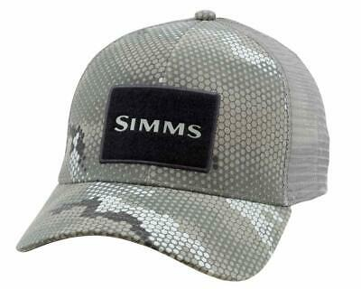 fc0da830c6f Simms Fishing High Crown Trucker Patch Hat Cap - Color Hex Camo Boulder -  NEW!