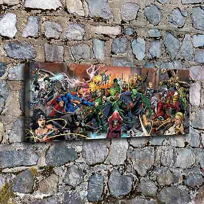 Justice League Superheroes HD Canvas prints Painting Home decor Room Wall art