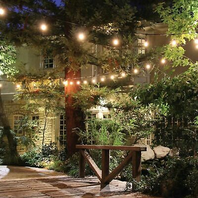 48FT LED Outdoor Waterproof Commercial Grade Patio Globe String Lights Bulbs OU