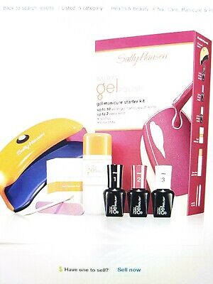 SALLY HANSEN SALON Gel Polish Shine Nail Manicure Starter Kit Led ...