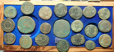 """Lot of 21 Ancient Roman Coins, VF to VF+! Two Early Empire """"SC"""" As Coins! Wow!"""