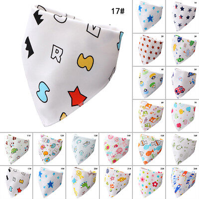 Double Snap Button Cotton Triangle Towel for 0~36 Months Babies