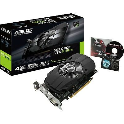 Asus nVidia GeForce GTX 1050 Ti Phoenix 4GB GDDR5 Gaming Graphics Video Card