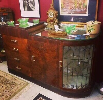 1930's Art Deco Empire Sideboard Cabinet