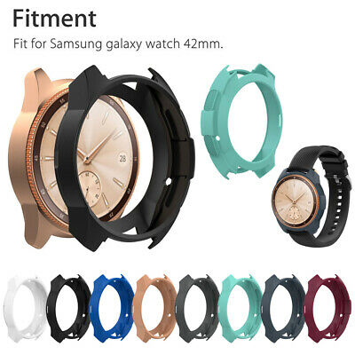 Silicone Frame Case Cover Protector Shell Gift For Samsung Galaxy Watch 46mm New