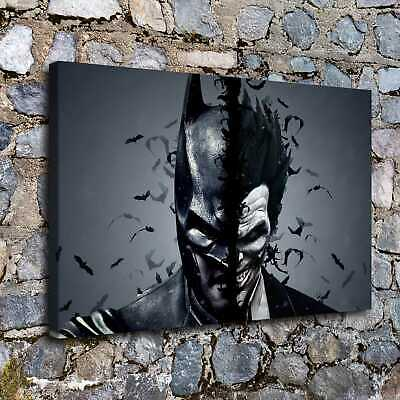 "12""x18""Joker Batman DC Movie HD Canvas prints Painting Home decor Room Wall art"