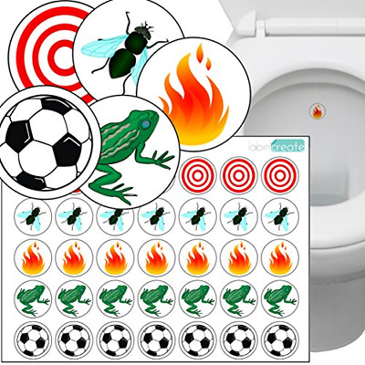Toilet Thingies - Variety Pack of 35 Toilet Training Stickers. Superior Quality