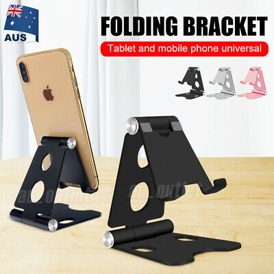 Universal Folding Aluminum Tablet Mount Holder Stand For iPad iPhone Samsung S10