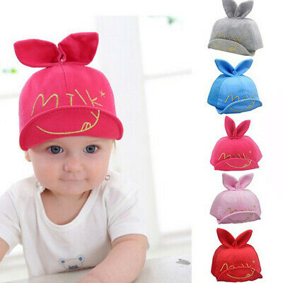 b08cc6a4260 Cute Boys Girls Kids Baby Toddler Newborn Peaked Hat Sun Little Ear Baseball  Cap
