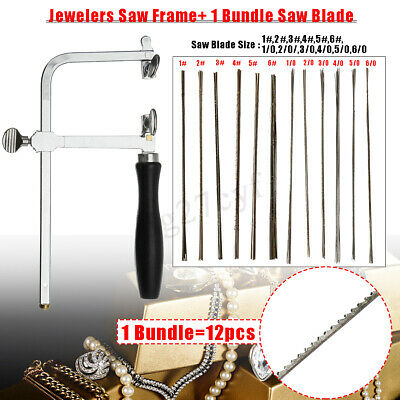 Adjustment Jewelry Frame Saw+12 Blades Hand Making Tools 12 Sizes Piercing Saw