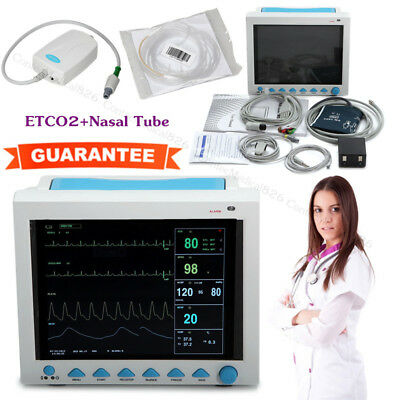 Capnograph Vital Signs Patient Monitor CO2 Monitoring 7 Parameters With ETCO2