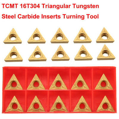 "10x Set TCMT16T304 Tungsten Steel Carbide Insert For 1/2"" Lathe Turning Tool Hot"