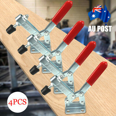 4Pcs 201-C 182kg Quick Release Hand Operated Tool Horizontal Fast Toggle Clamp