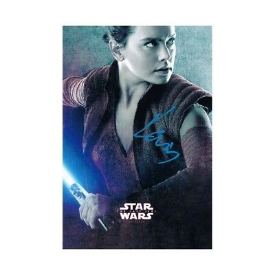 Daisy Ridley Signed Autograph Star Wars: The Last Jedi Rey 4x6 Movie Card wCOA