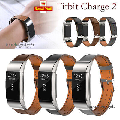 For Fitbit Charge 2 Watch Strap Wrist Band Replacement Leather Buckle Wristband