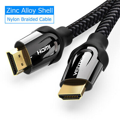 VENTION HDMI Cable 2.0V HDMI to HDMI Metal Alloy Head Braided 4K 3D@60Hz 1080p