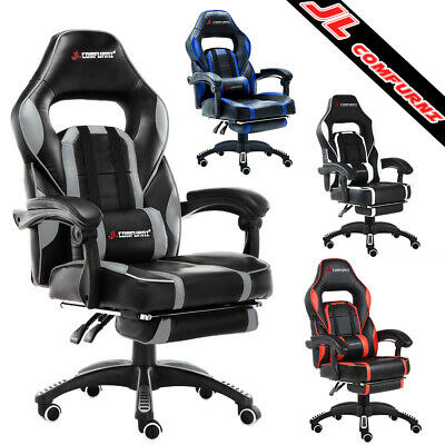 Home Office Gaming Race Computer Desk Chair Executive Recline Footstool Sport