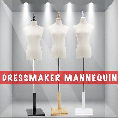 M-Size Female Mannequin Half Model Torso Adjustable Dressmaker Clothes Display