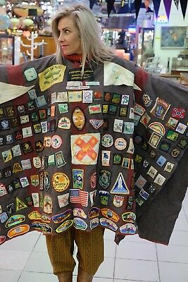 Scouts Blanket Poncho With Patches