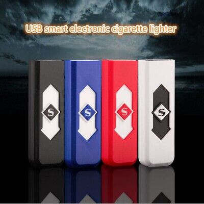 USB Electric Battery Rechargeable Flameless Fire Lighter Cigarette Windproof NEW