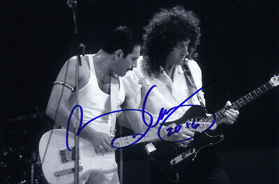 Brian May Rock Band Queen Guitarist Signed Autograph 4x6 Card w/COA