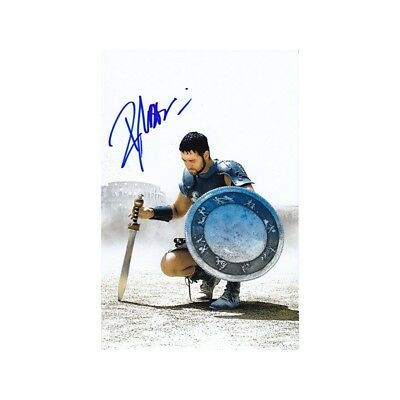 Russell Crowe Signed Gladiator 4x6 Autograph Card w/COA
