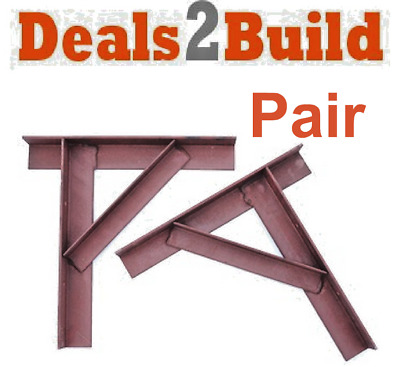 Steel Gallows Brackets Chimney Supports - Pair - FREE NEXT DAY DELIVERY