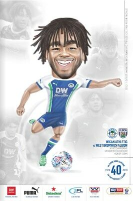 Wigan Athletic v West Bromwich Albion 2018/19 brand new football programme