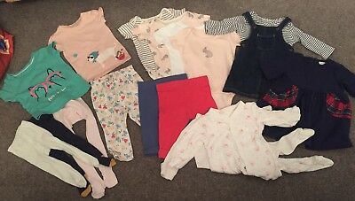 17 Piece Bundle 3-6 Mths. Outfits/dresses/tights. Next/M&S/jean Bourget CH